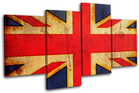 Abstract Union Jack Maps Flags - 13-1148(00B)-MP04-LO
